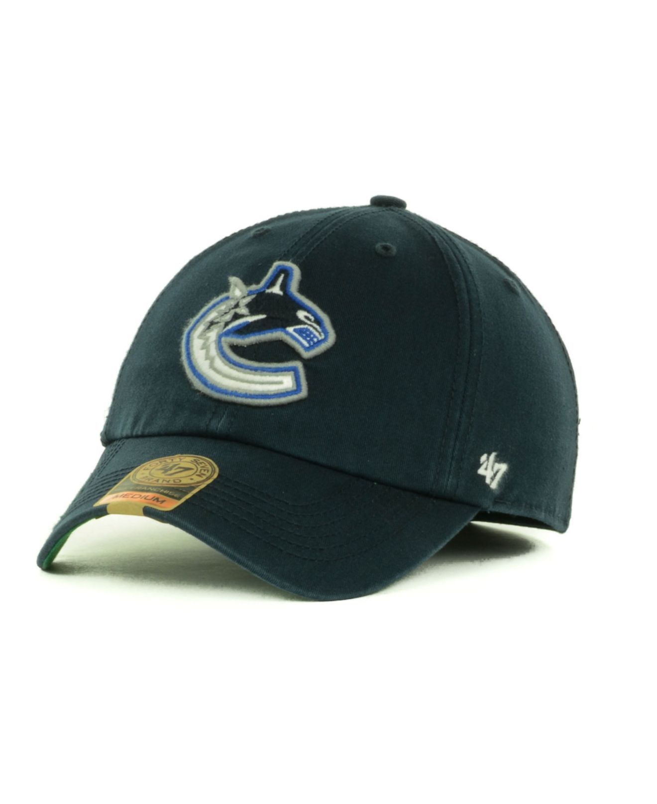 9bc68c04d99 ... best price lyst 47 brand vancouver canucks franchise cap in blue for men  33583 f7e6f