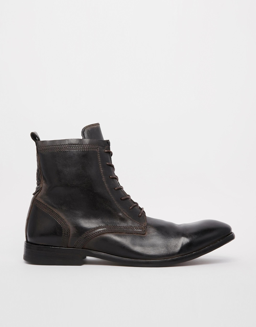 h by hudson h by hudson swathmore boots in black for men. Black Bedroom Furniture Sets. Home Design Ideas