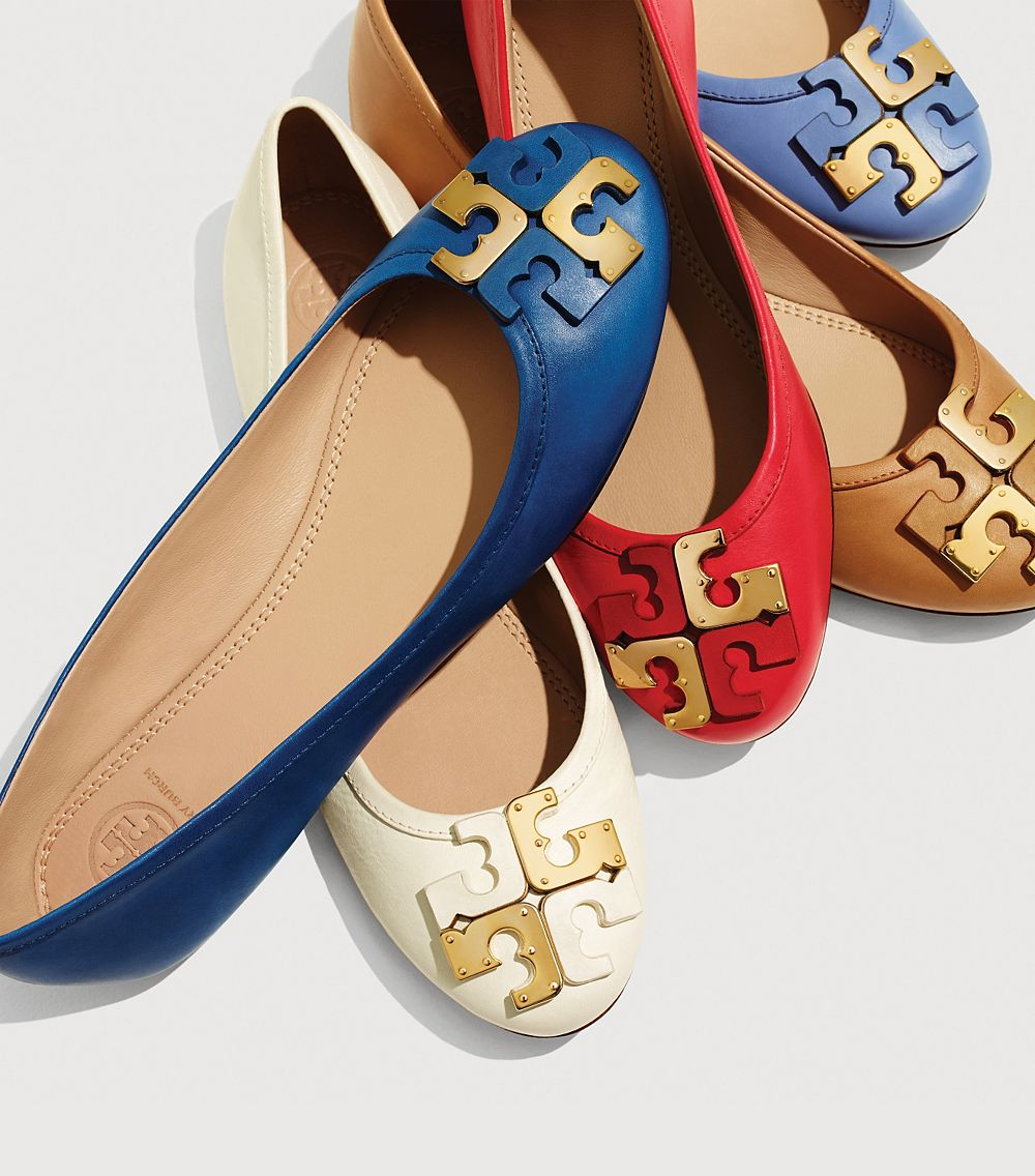 Lyst Tory Burch Lowell Flat In Natural