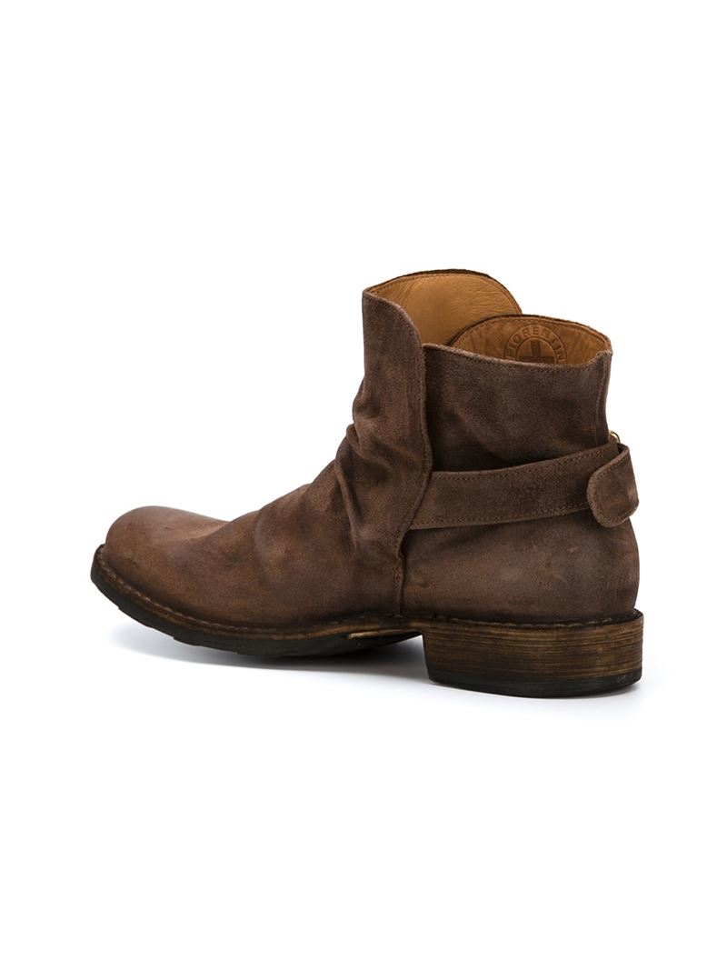 fiorentini baker buckled boots in brown for lyst