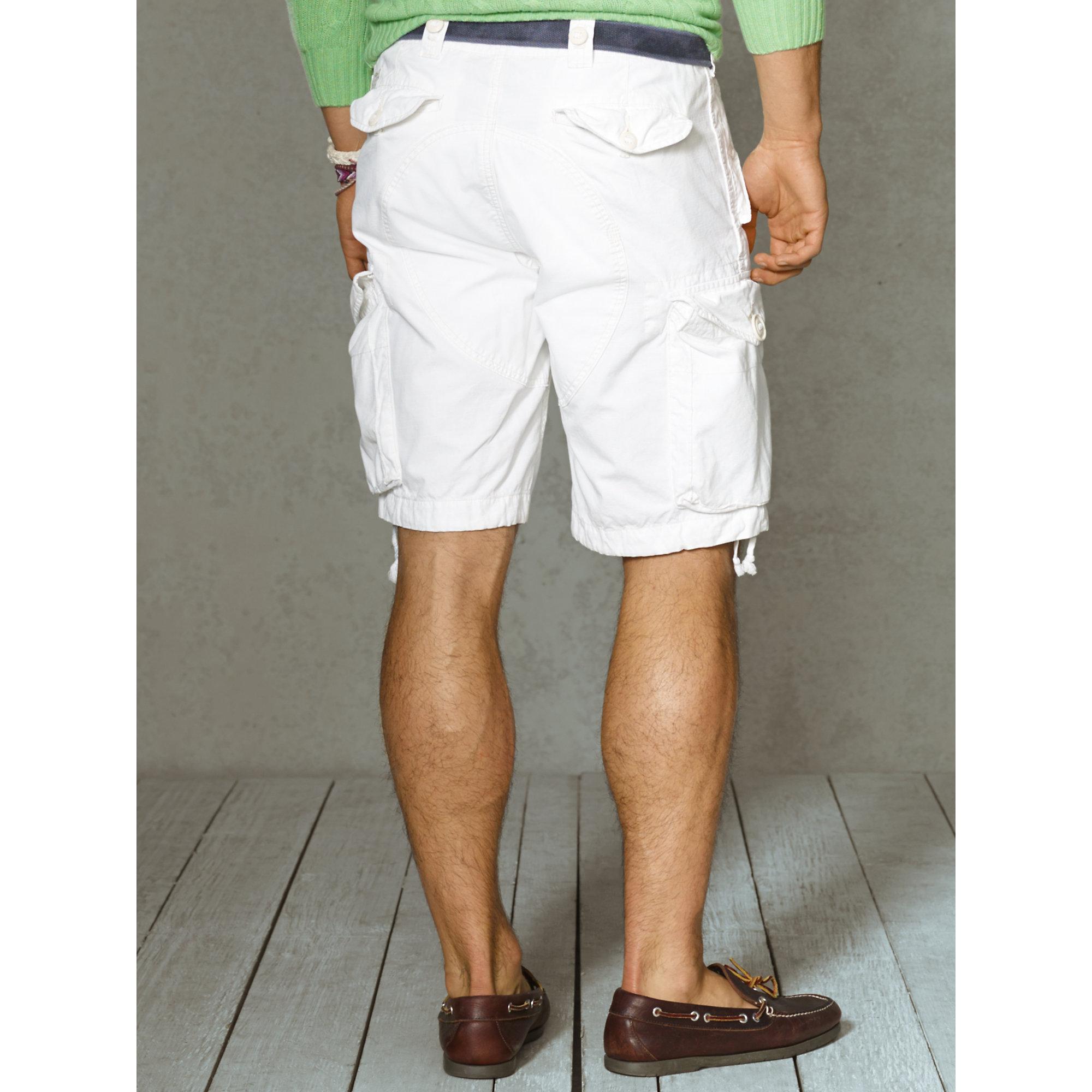 55313e2167 switzerland polo ralph lauren shorts ebac5 ddfc2; cheapest lyst polo ralph  lauren classic fit cargo short in white for men 41ef7 f4ccc