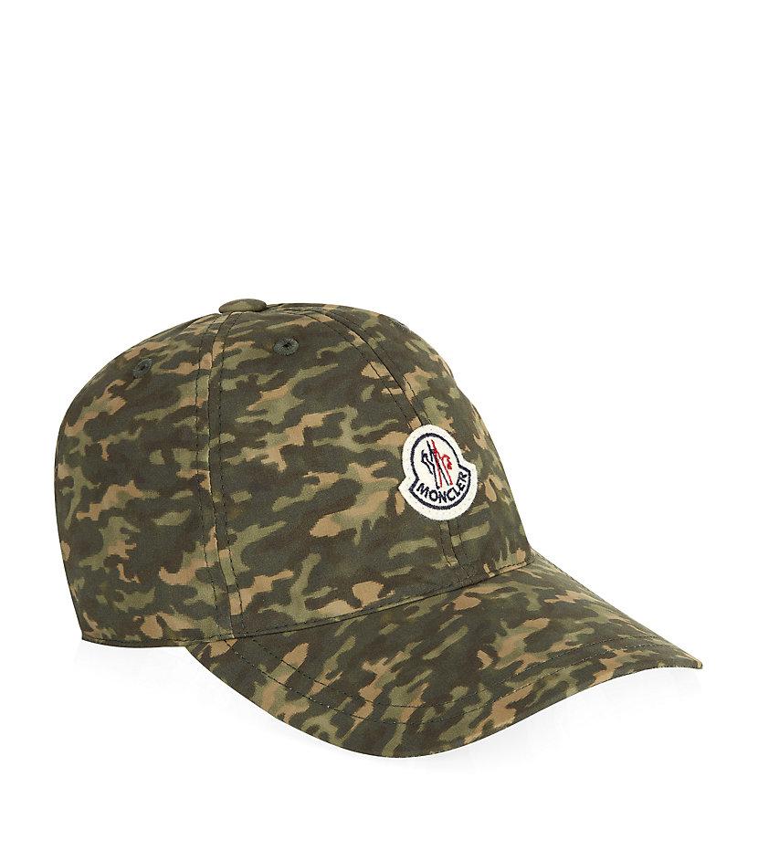 Moncler Badge Camo Cap in Green for Men - Lyst fb9a6aef381