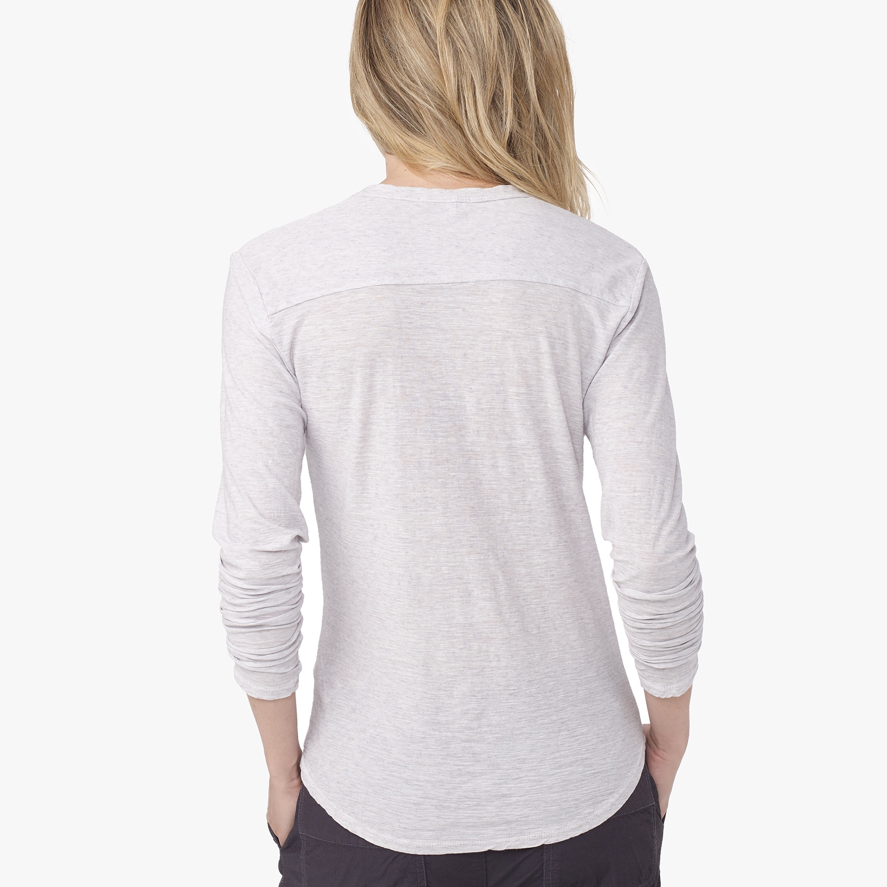 James perse cationic dyed henley in gray lyst for James perse henley shirt