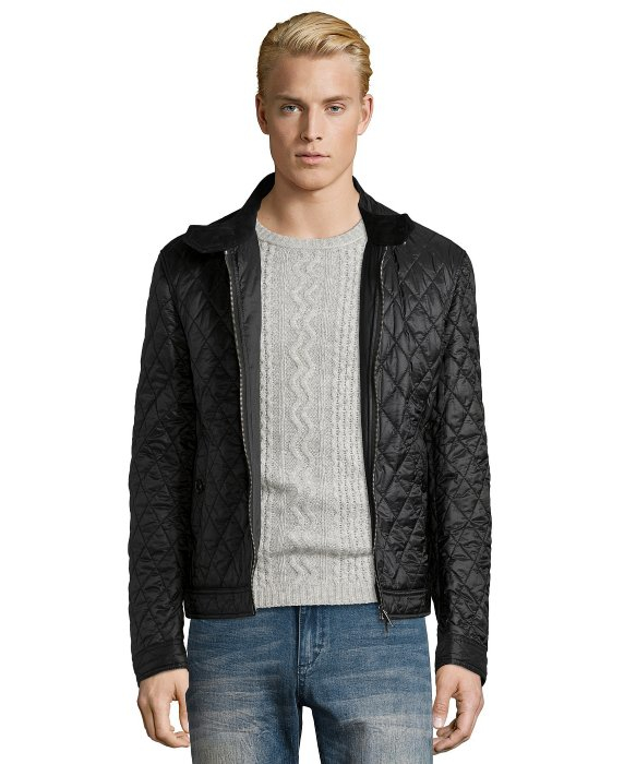 2c6a5490f55 Lyst - Burberry Brit Black Diamond Quilted   39 howson  39  Bomber