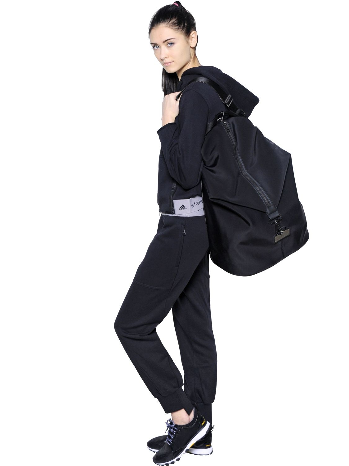 77d9d361ed Lyst - adidas By Stella McCartney Oversize Studio Backpack in Black
