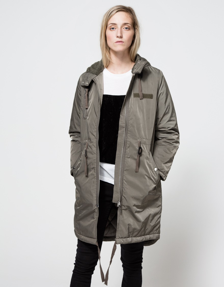 Cheap monday Search Parka in Gray | Lyst