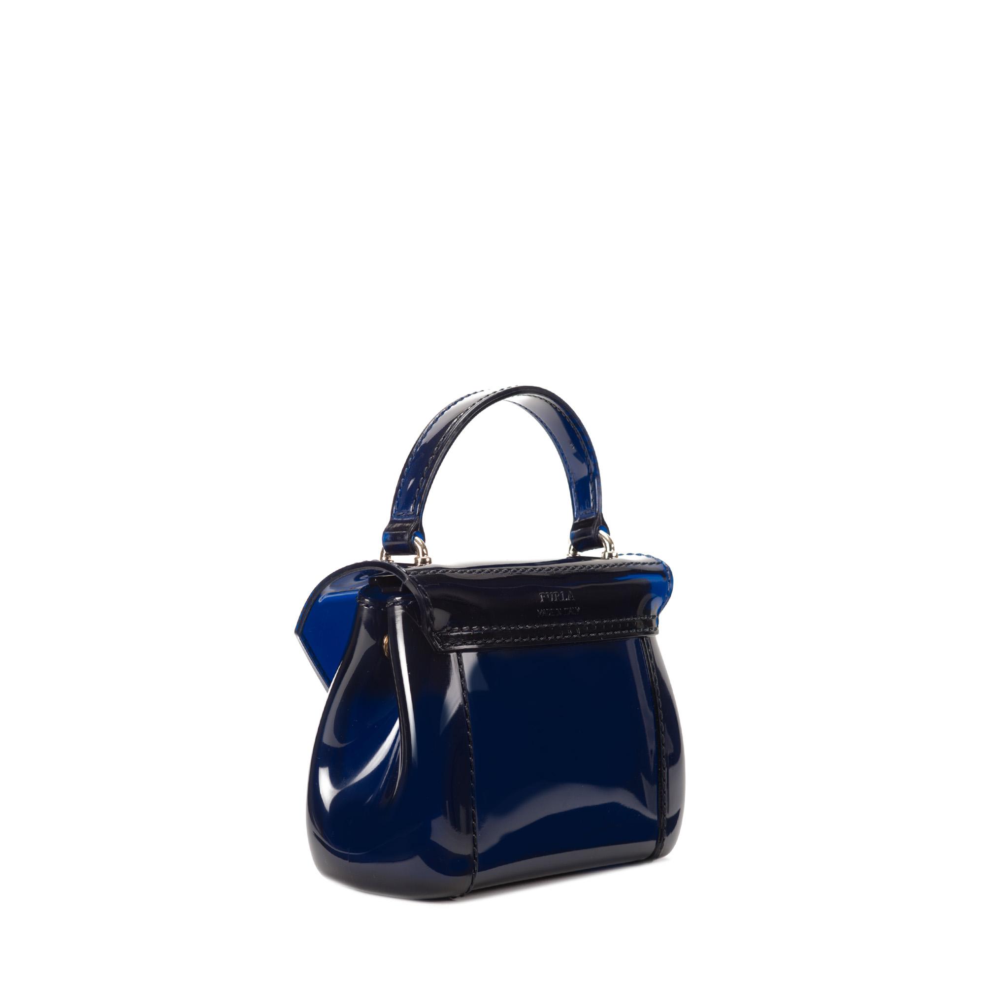 furla mini bag in blue ink lyst