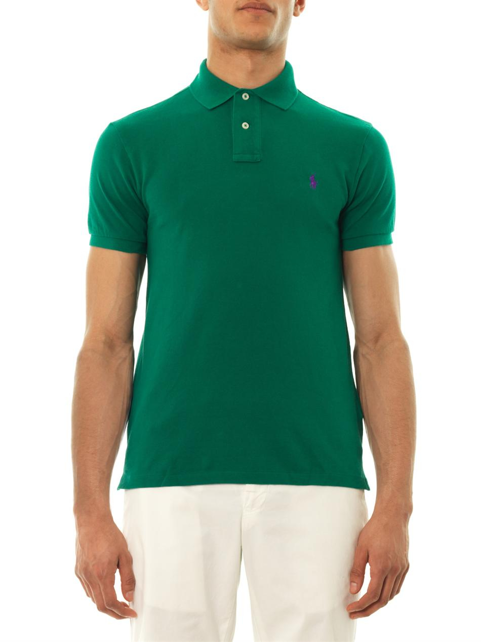 Slim Fit Pique Polo in Green - Green Polo Ralph Lauren Recommend Discount 4Bv1fHtfs