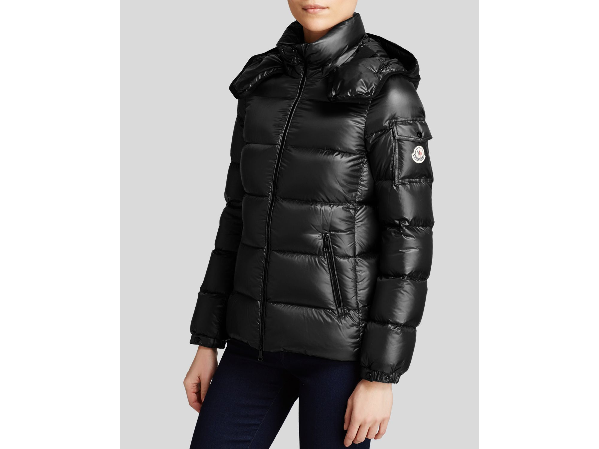 Moncler Berre Quilted Down Shell Jacket In Gray Lyst