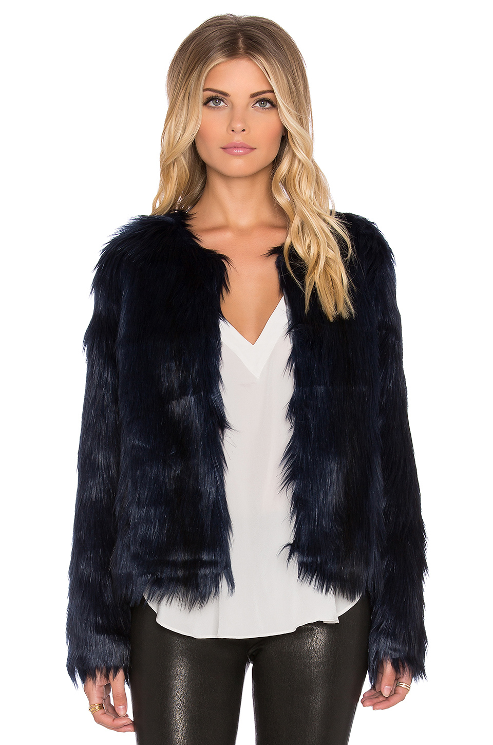 Unreal fur Unreal Dream Faux Fur Jacket in Blue | Lyst