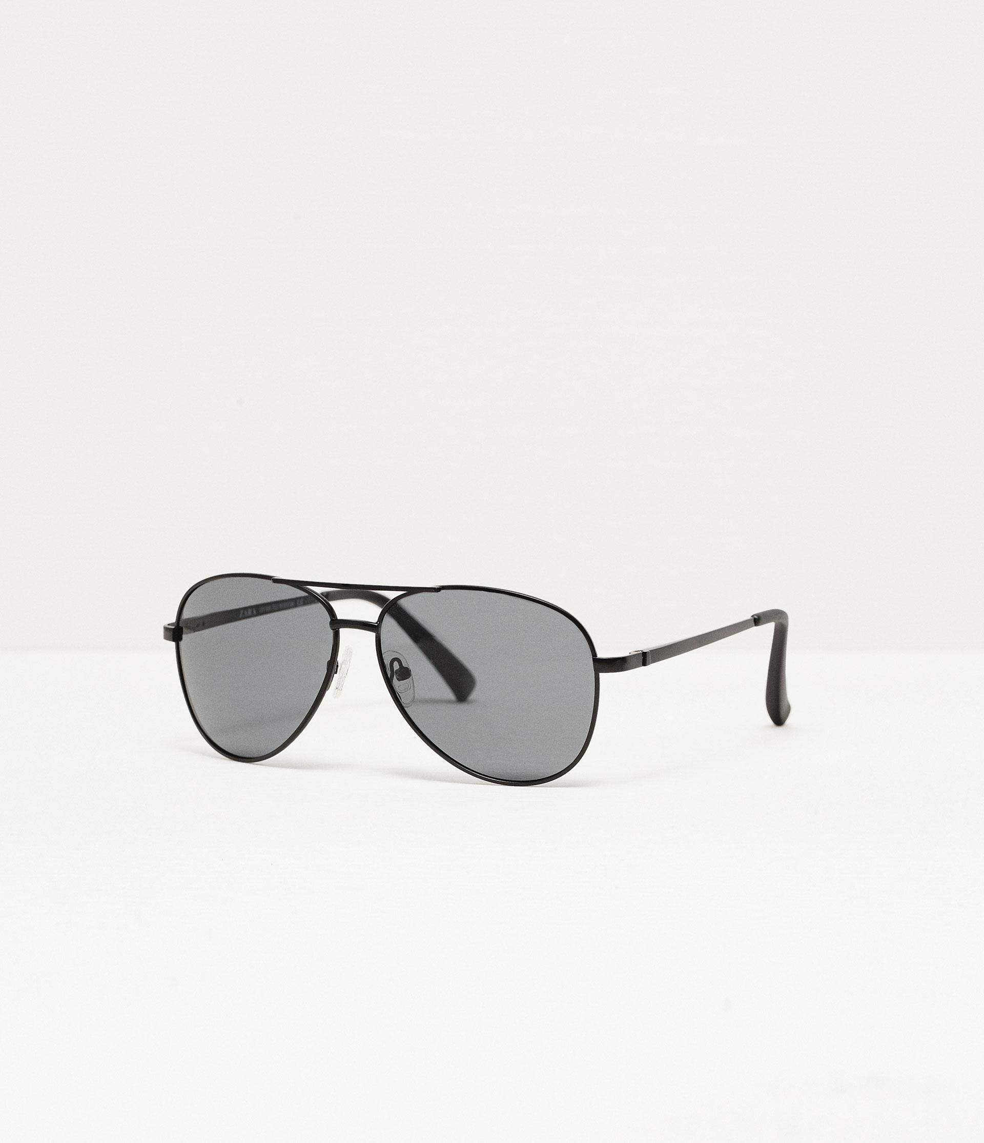 Zara Glasses Frames : Zara Oval Metal Frame Sunglasses in Black for Men Lyst