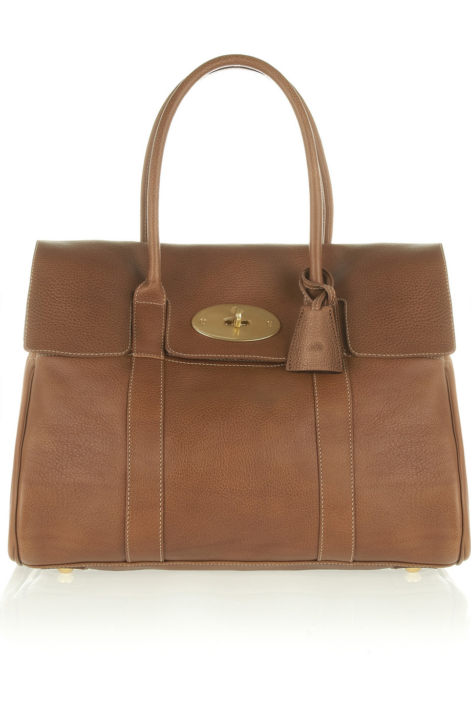 Mulberry the bayswater textured leather bag in brown lyst for The bayswater