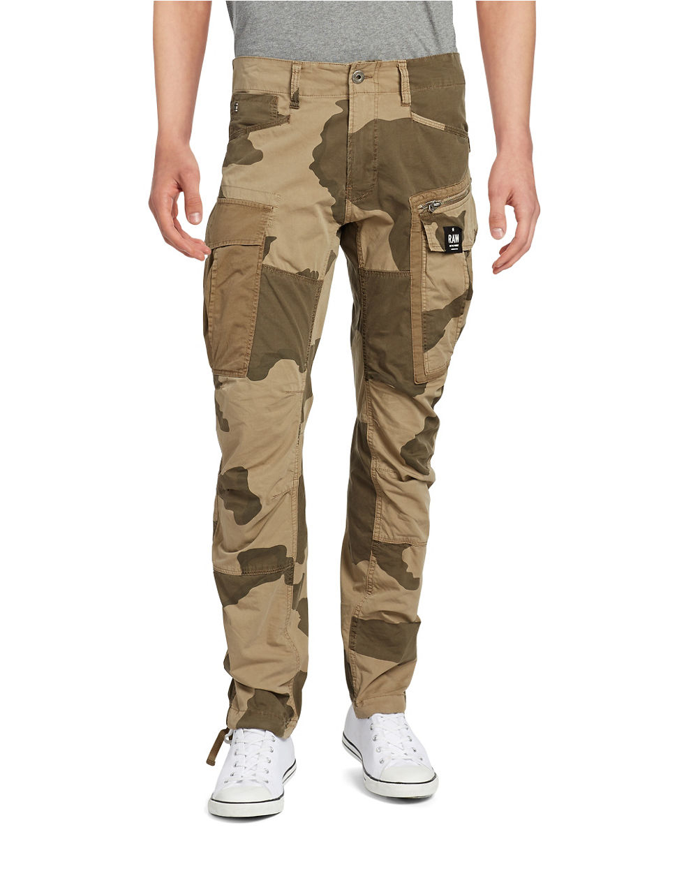 g star raw camouflage cargo pants in natural for men lyst. Black Bedroom Furniture Sets. Home Design Ideas