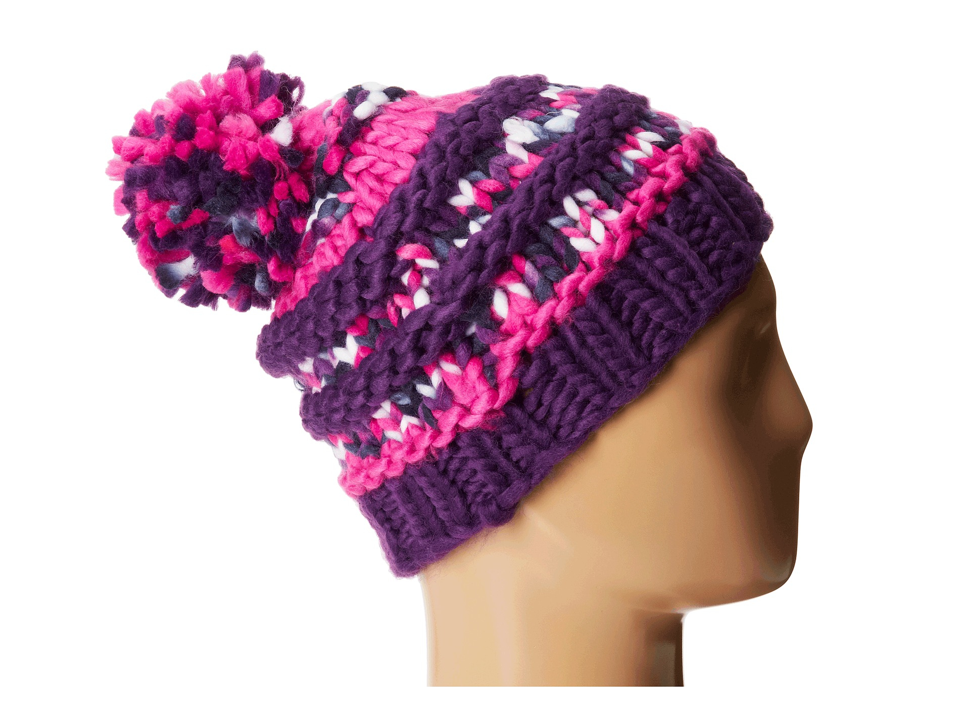 60e047af23981 The North Face Nanny Knit Beanie in Pink - Lyst