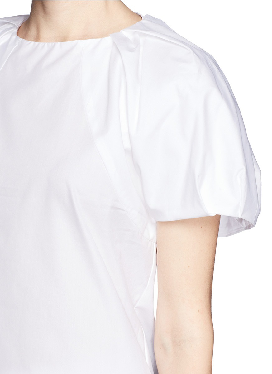 Cheap Shop Clearance Best Puff-shoulder cotton blouse Chloé Visit New Sale Online wZgw4xY