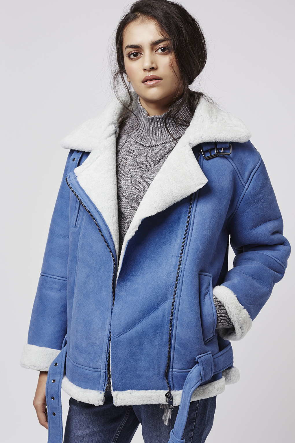 8a2df6fadde Blue Shearling Jacket - Best Picture Of Blue Imageve.Org