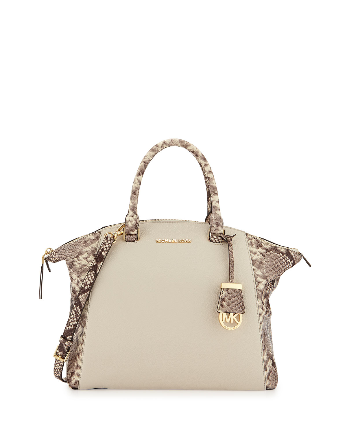 3d638a850df1f Michael michael kors Riley Large Python-embossed Satchel .