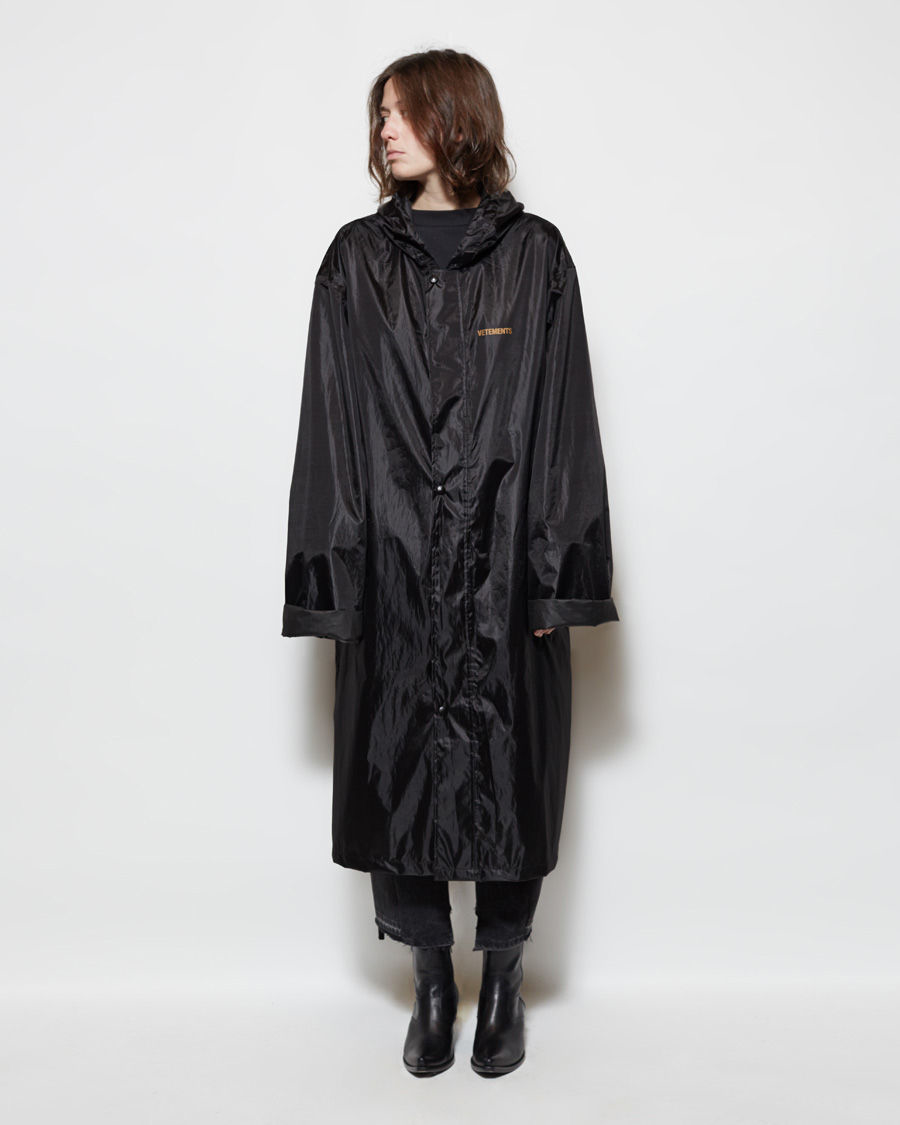 Lyst Vetements Rain Jacket In Black