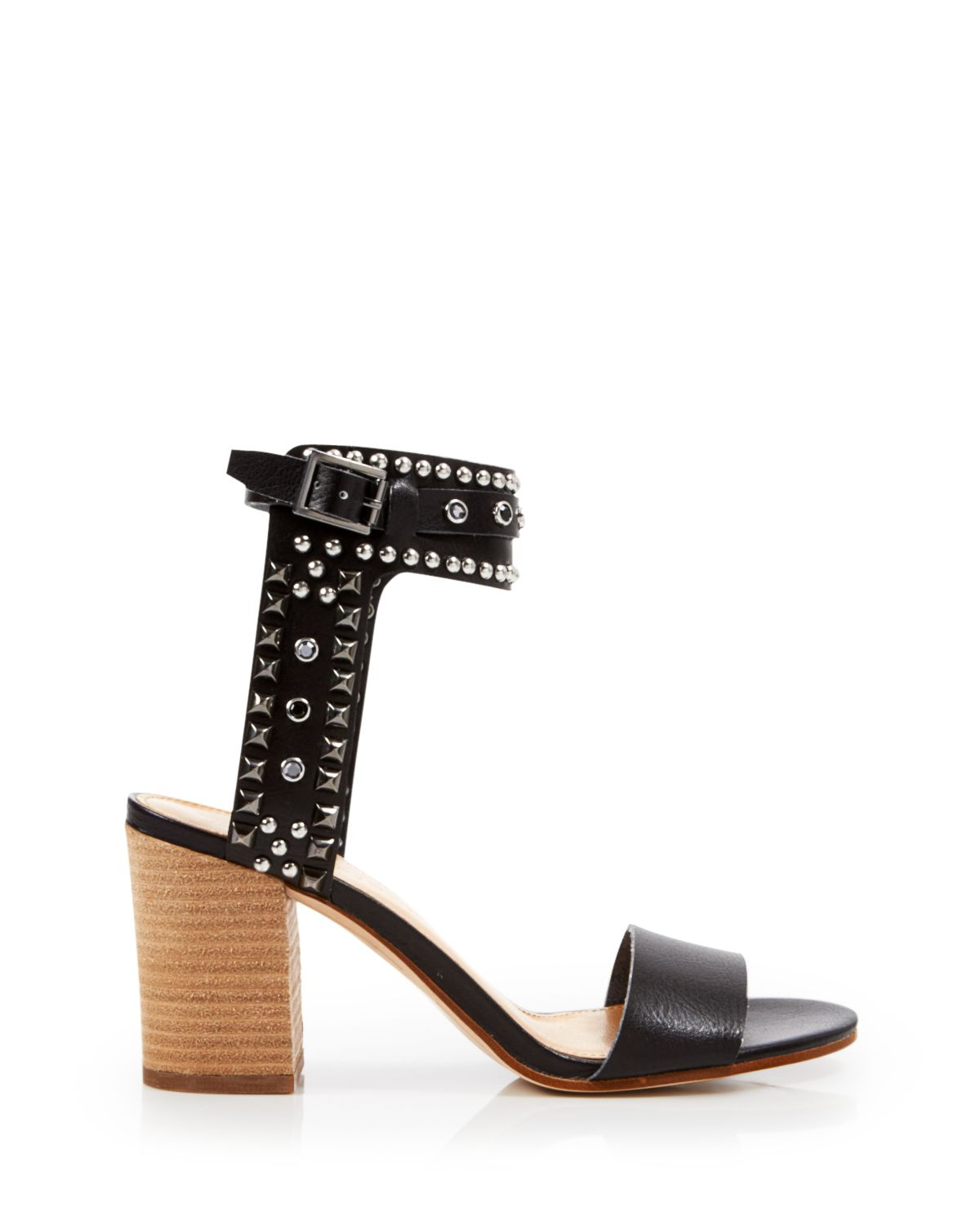7fabb6e594d Lyst - Enzo Angiolini Ankle Strap Sandals - Glittax Studded Chunky ...