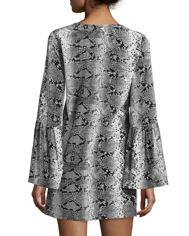 elizabeth and james python nadelle dress in animal pyth lyst. Black Bedroom Furniture Sets. Home Design Ideas