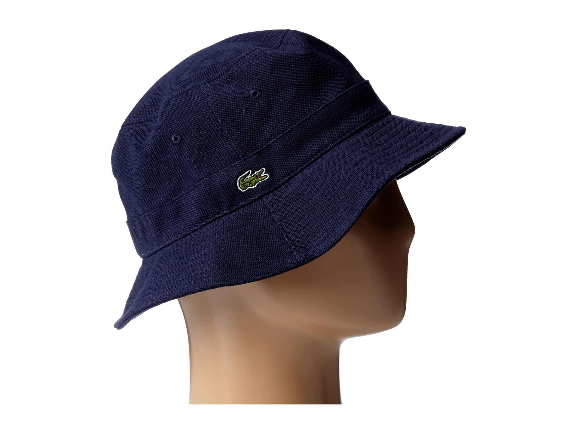 Lyst - Lacoste Bucket Cap in Blue for Men a23ea65b257e