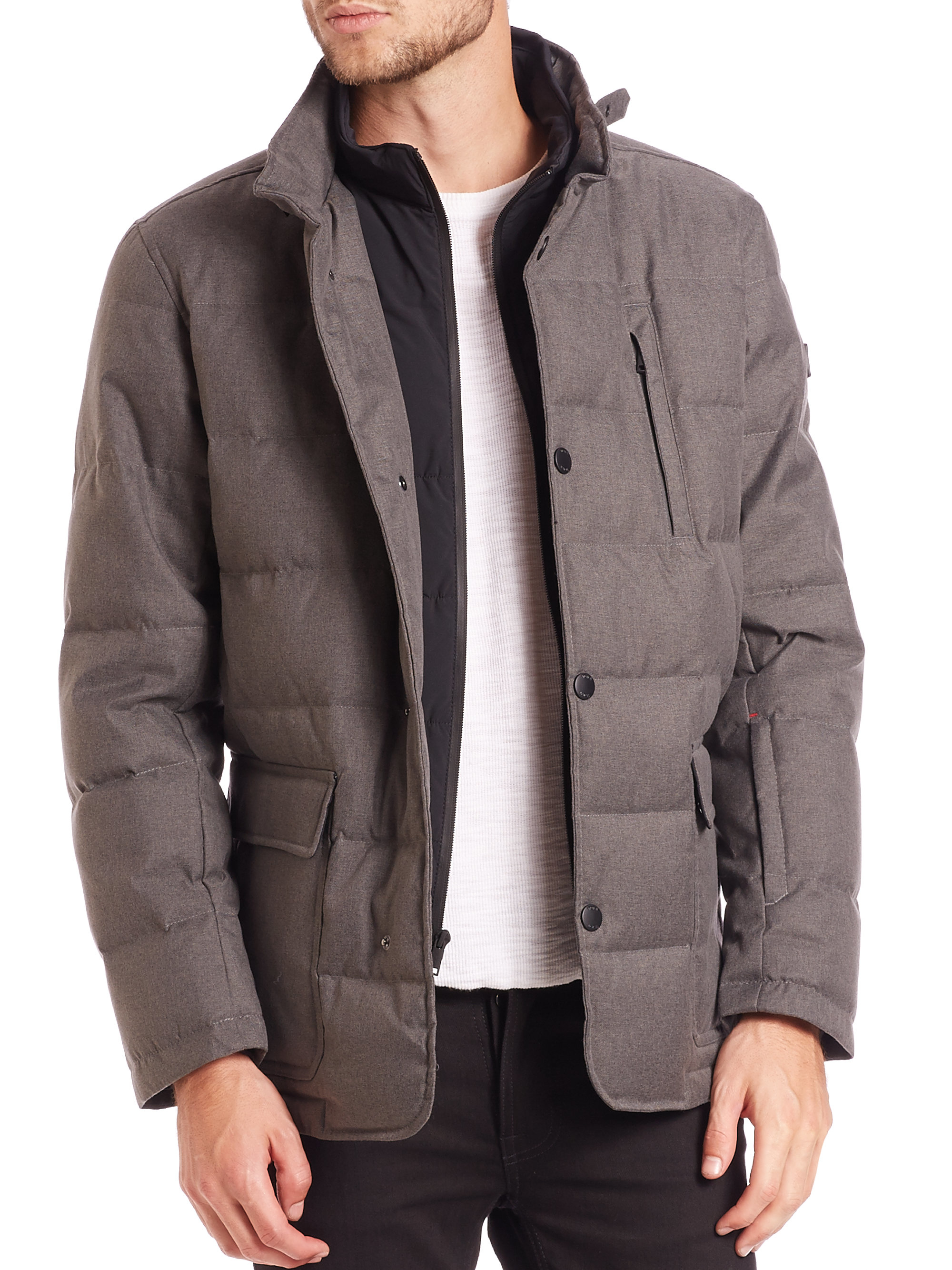 Marc New York Men S Iridescent Nylon Down Filled Quilted Jacket 8