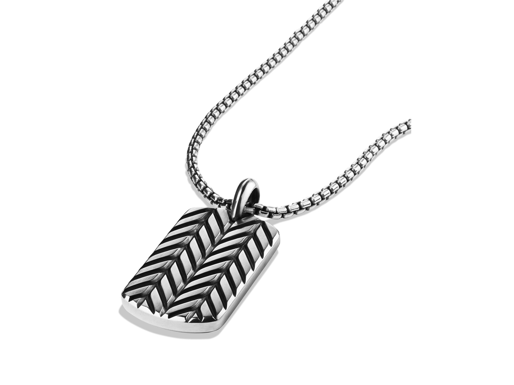 Lyst David Yurman Modern Chevron Tag Necklace In