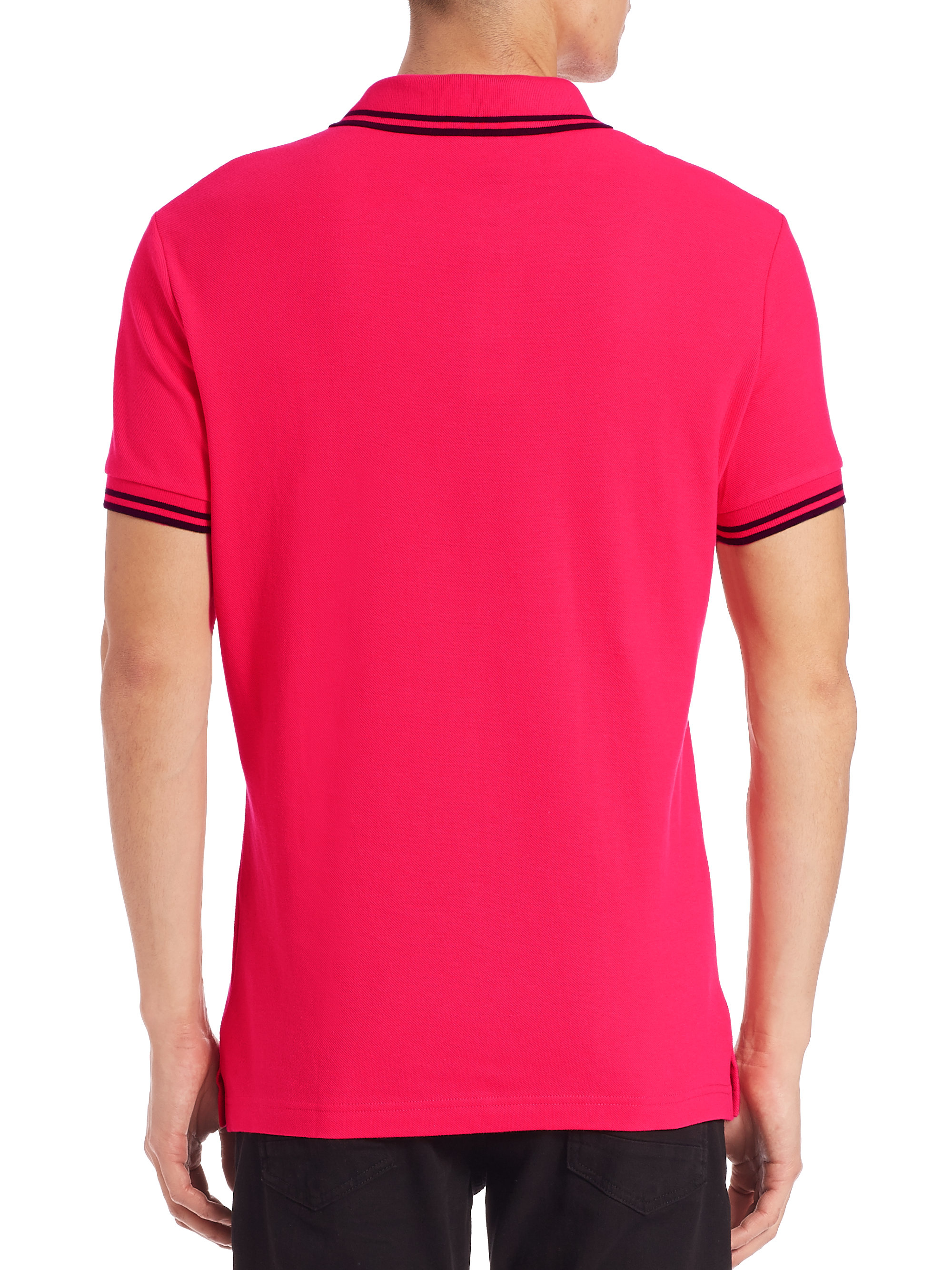 Versace jeans Polo T-shirt in Pink for Men | Lyst