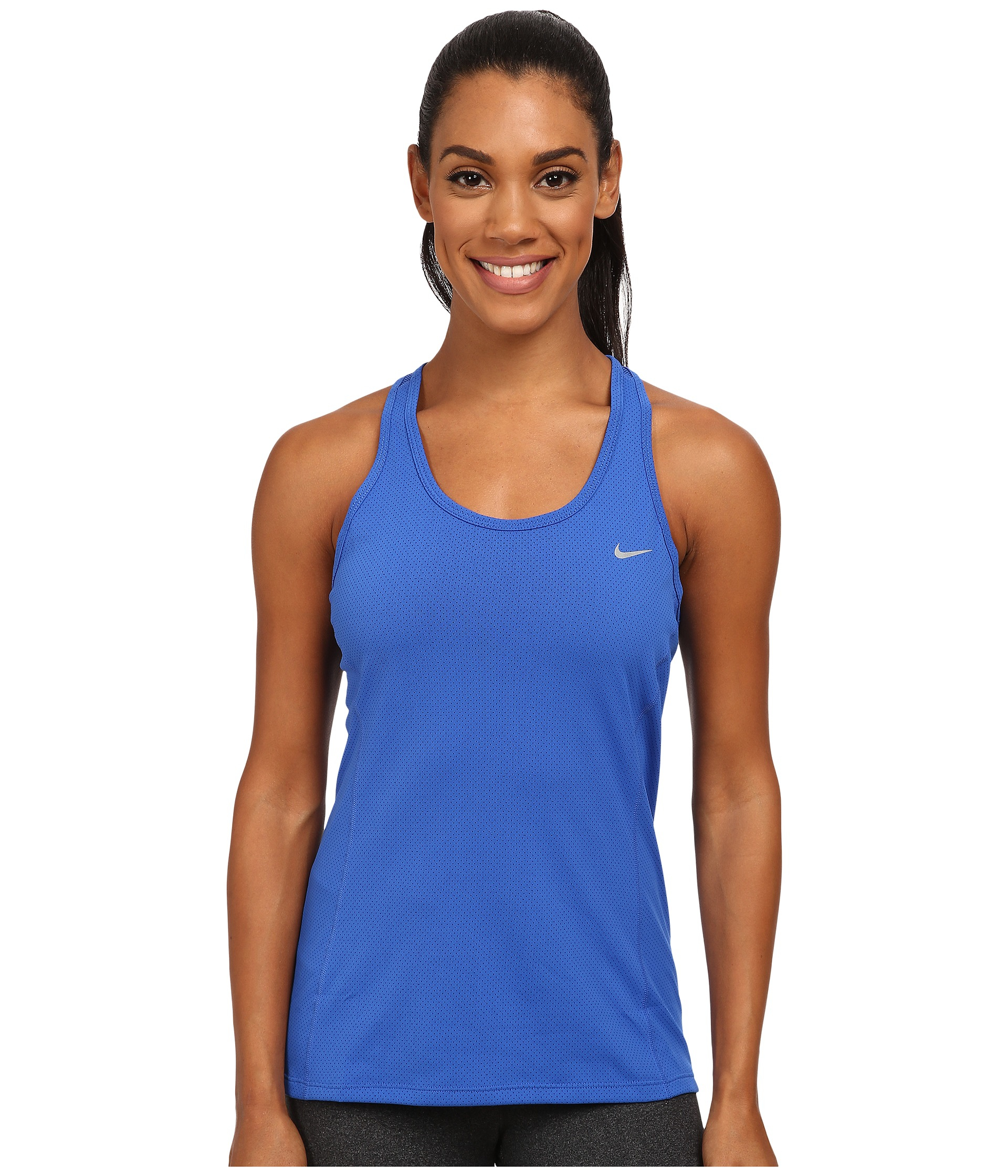 the quest van damme - Nike Dri-fit? Contour Tank Top in Blue | Lyst