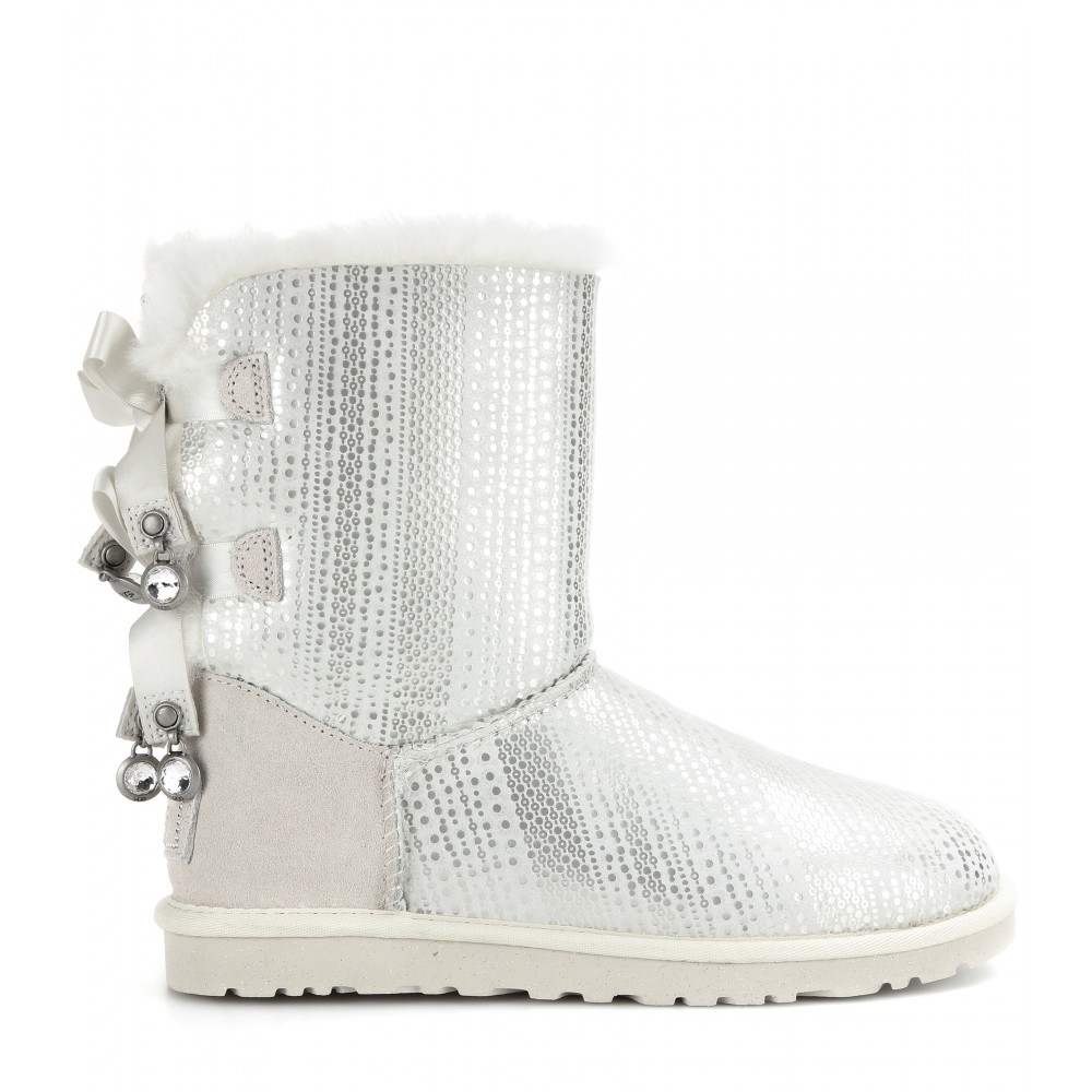 Ugg Bailey Bow Bling Shearling Lined Boots In White Lyst