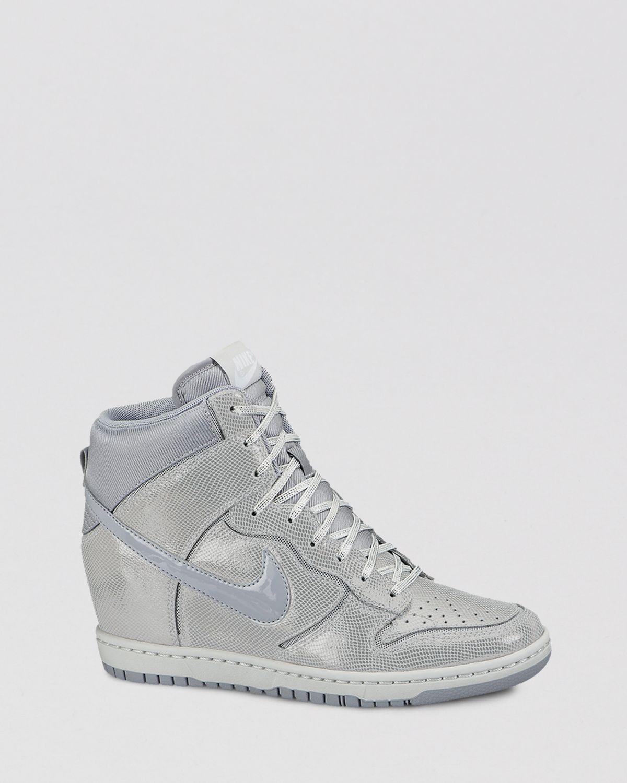 Lyst - Nike High Top Wedge Sneakers Womens Dunk Sky Hi in Gray b302a42285b3