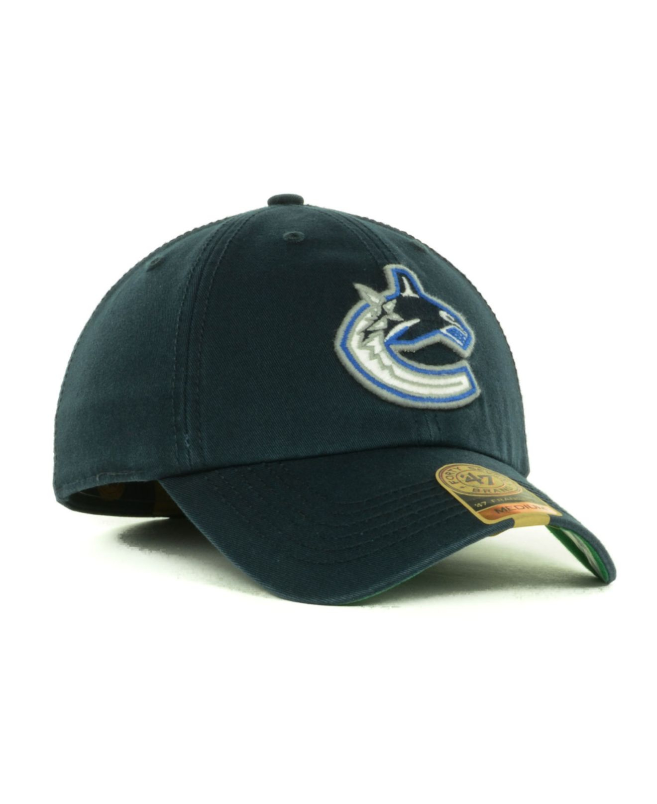 dff06c81984 coupon code for black calgary flames zephyr nhl standout flex cap rf81e60  4429f 2a976  best price lyst 47 brand vancouver canucks franchise cap in  blue for ...