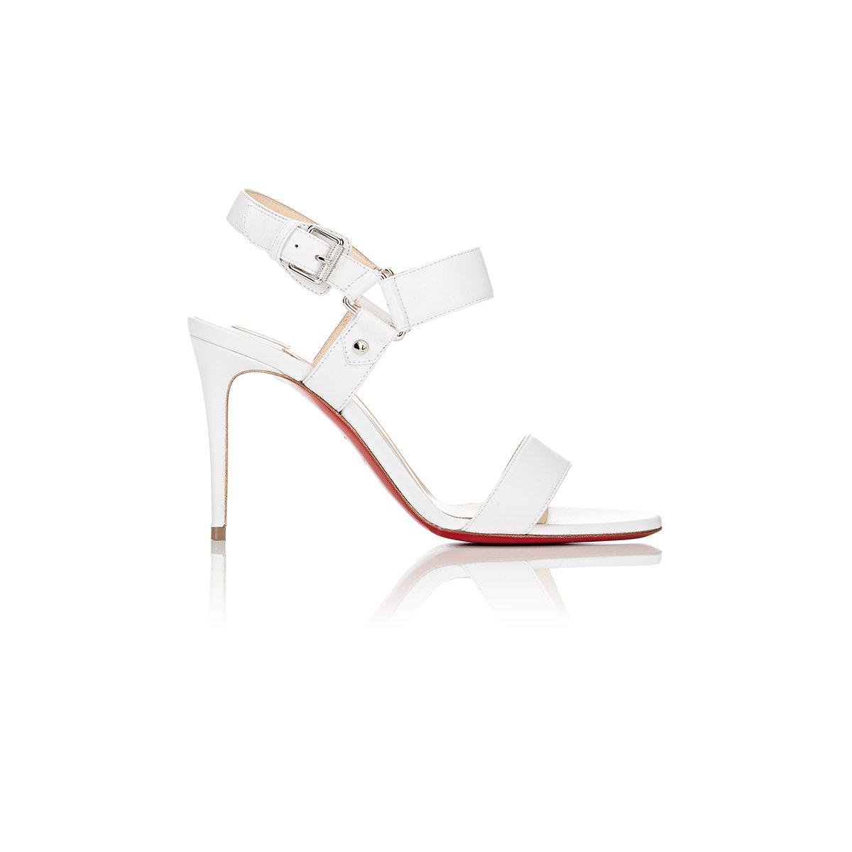 louboutin white sandals