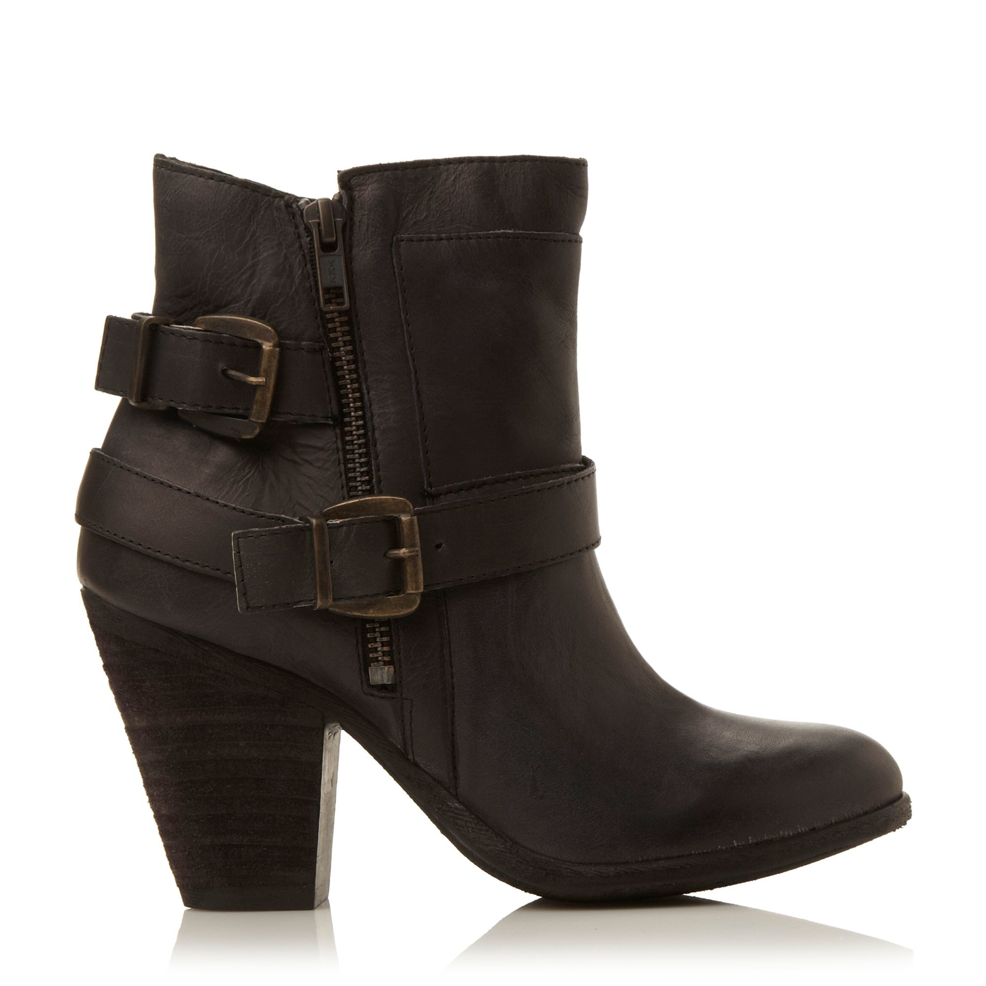 Steve madden Nother Western Style Buckled Ankle Boot in ...