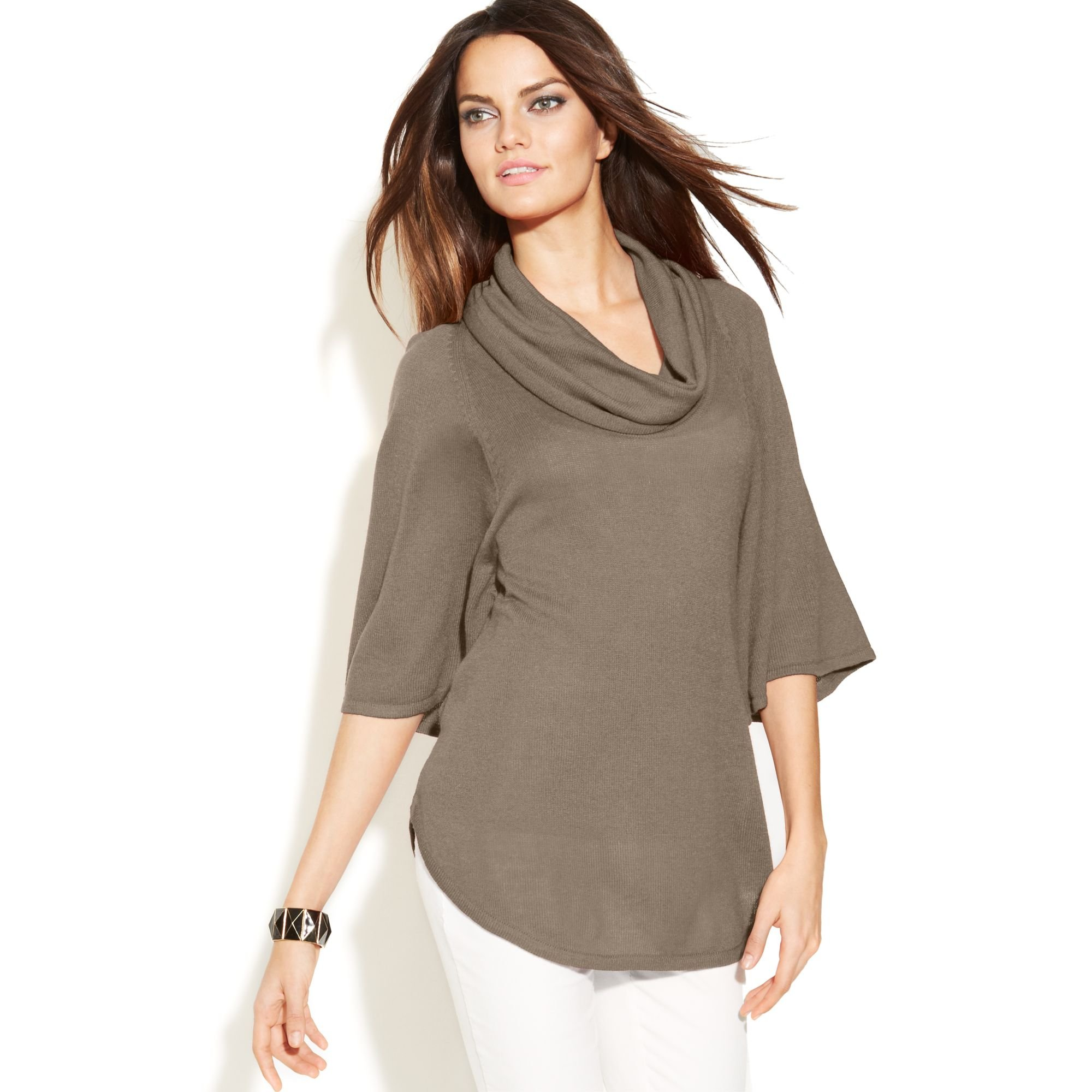 Inc international concepts Cowl-Neck Batwing-Sleeve Sweater in ...