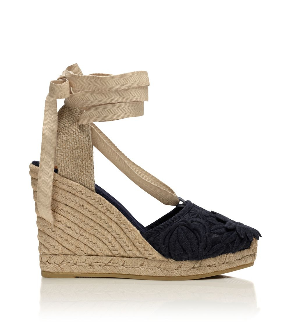 20eed0d2ecfbd4 Lyst - Tory Burch Emil Wedge Espadrille Sandal in Blue