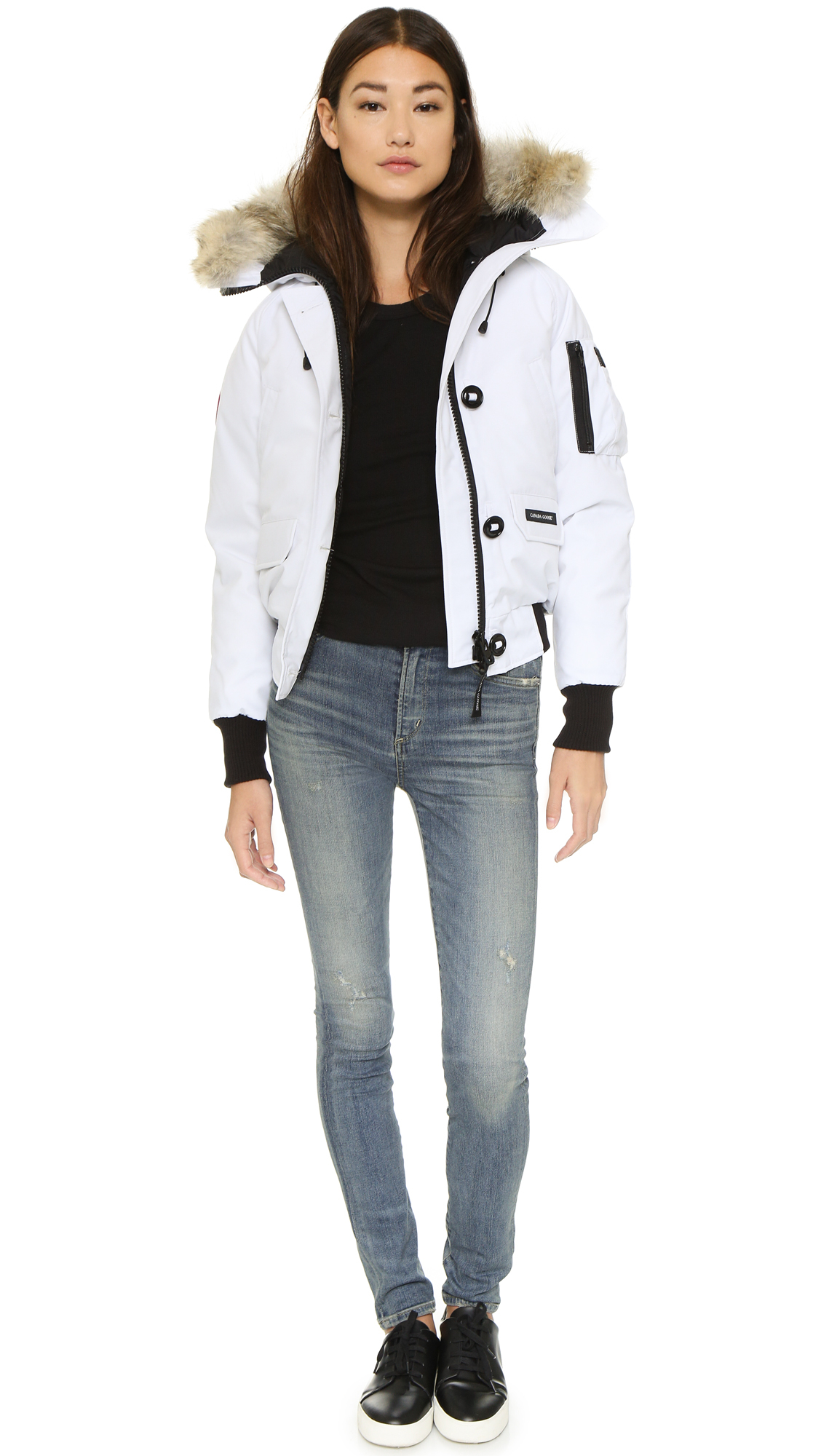 Canada Goose Chilliwack Bomber Jacket in White - Lyst