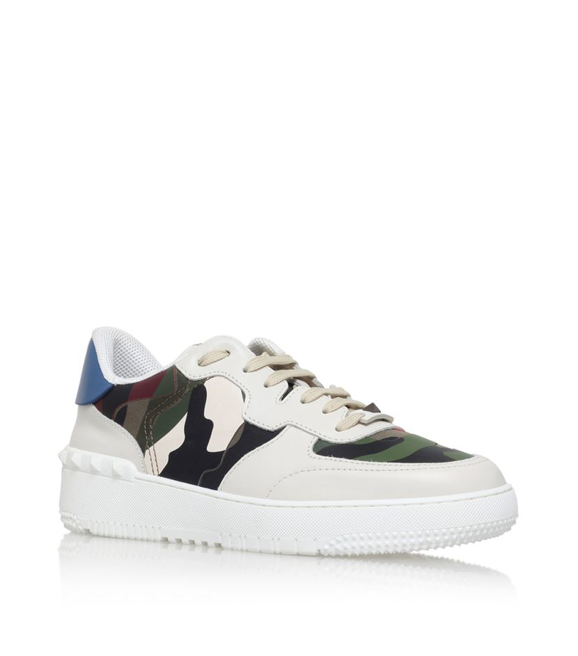 Basket In Lyst For Men Valentino White Camo Sneaker BqnHaZH