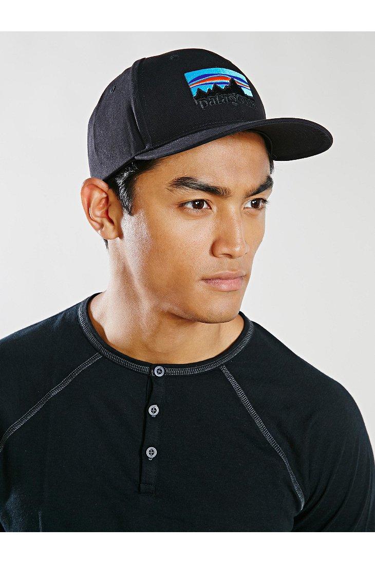Lyst - Patagonia 73 Logo Roger That Hat in Black for Men 0e8b686d0de