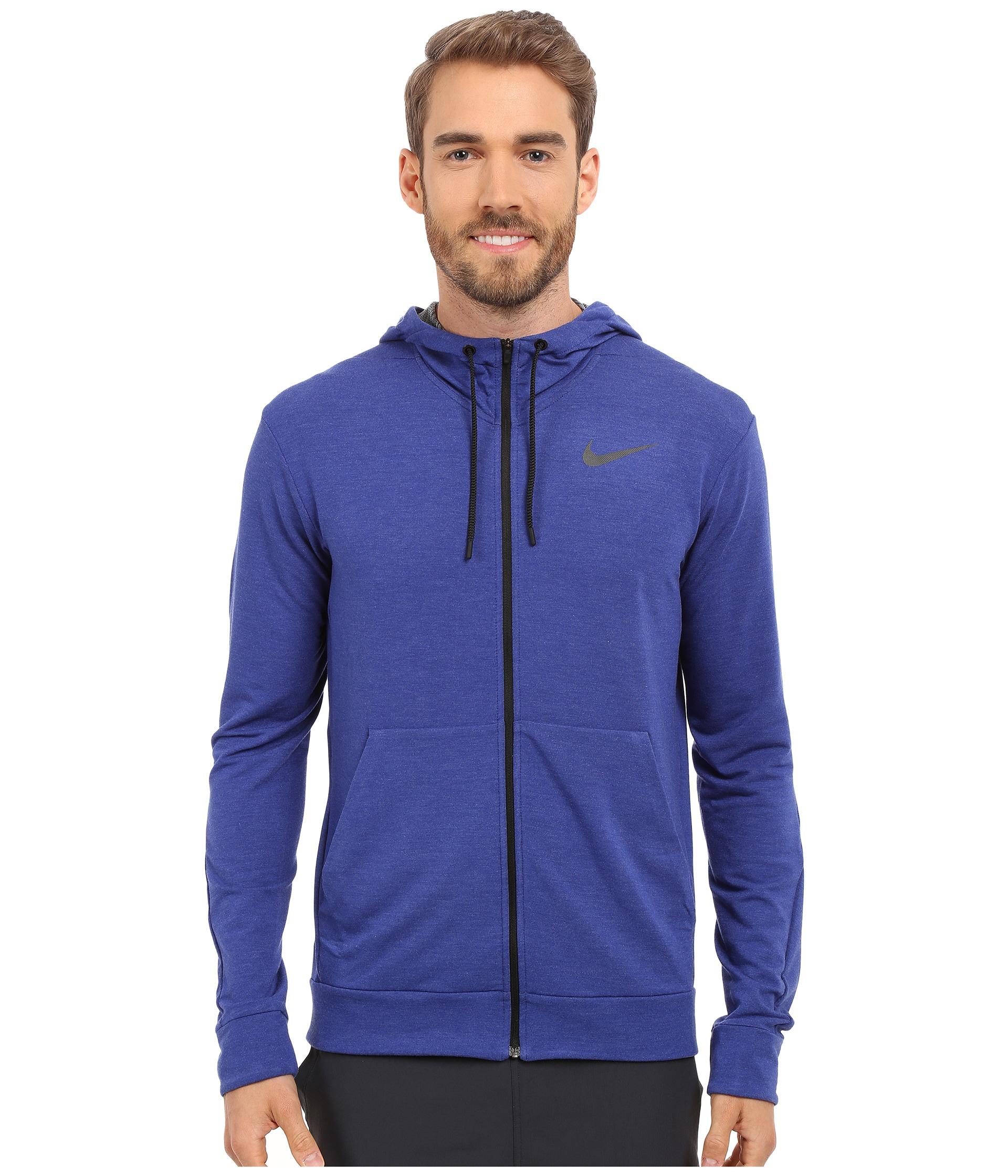 9f34333028cd Lyst - Nike Dri-fit™ Fleece Full-zip Training Hoodie in Blue for Men