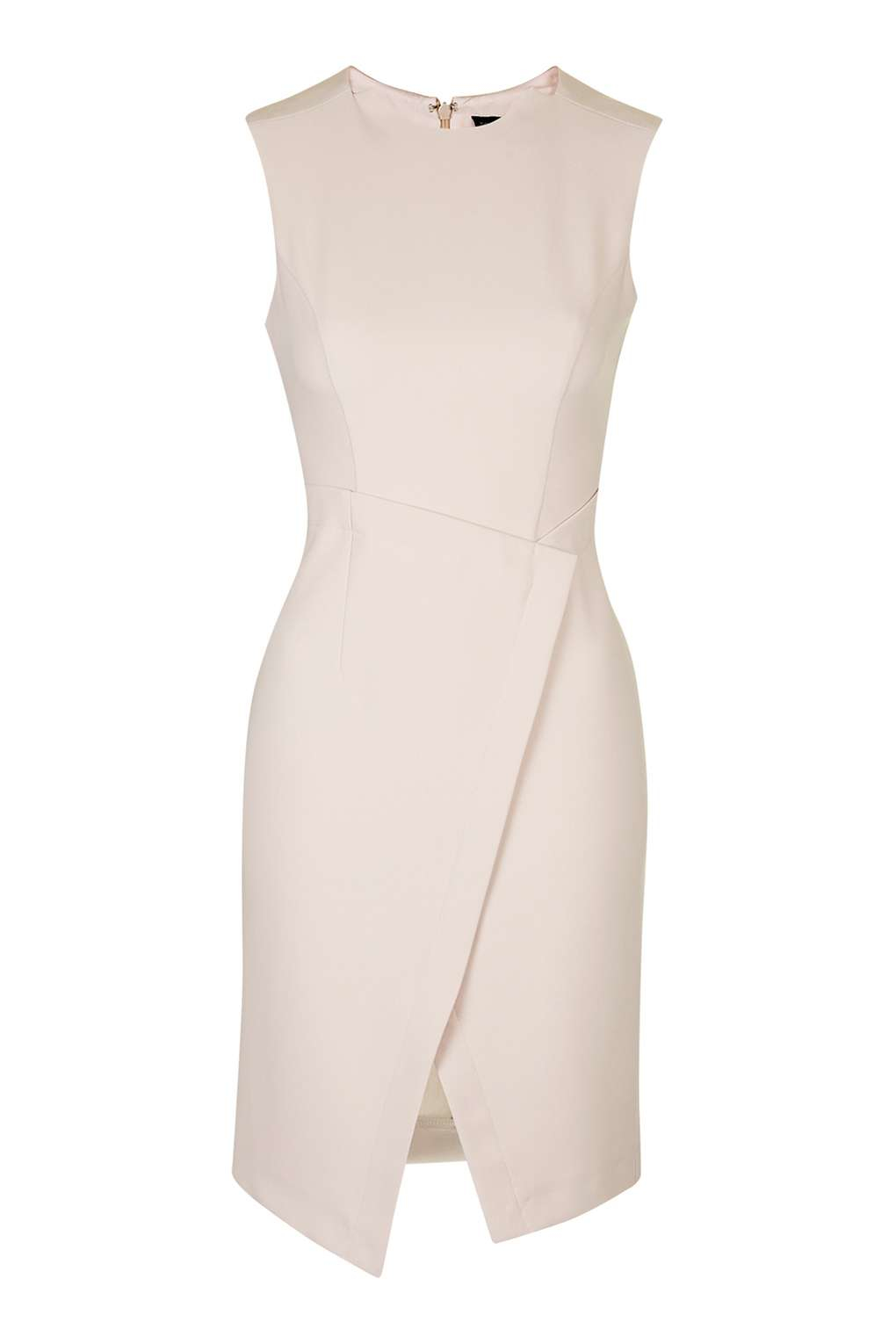 Lyst Topshop Structured Wrap Dress In Pink