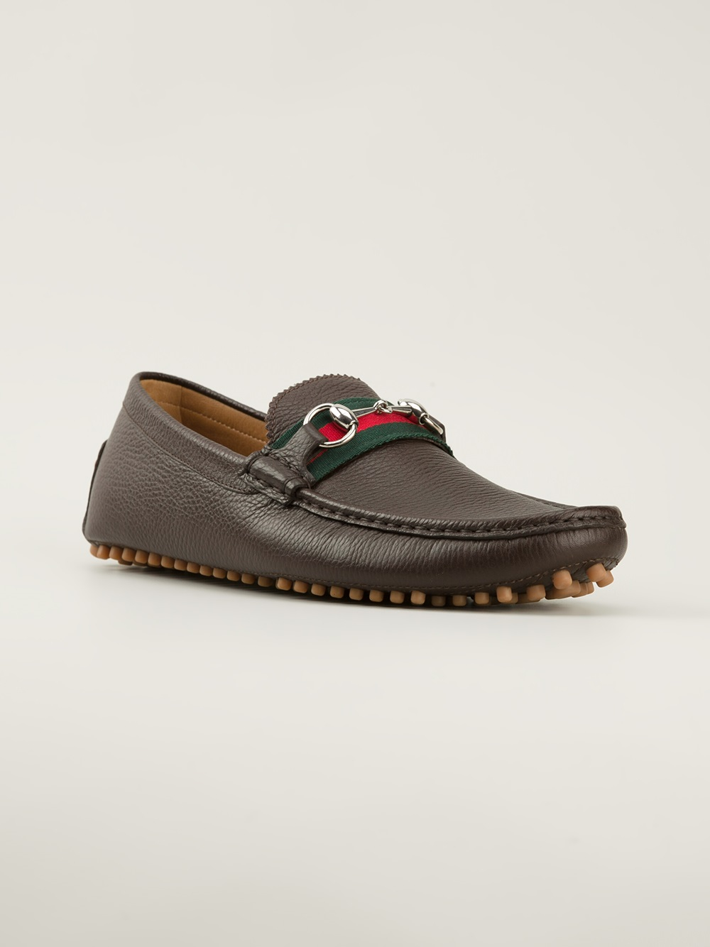 lyst gucci horsebit loafers in brown for men. Black Bedroom Furniture Sets. Home Design Ideas
