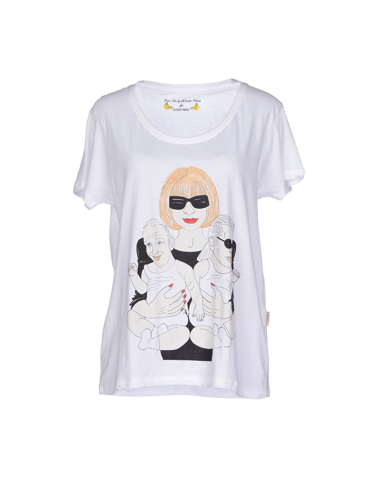 eleven paris t shirt in white lyst. Black Bedroom Furniture Sets. Home Design Ideas