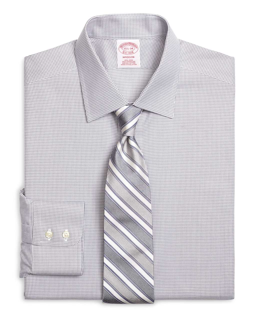 Brooks brothers non iron milano fit micro check dress for Brooks brothers non iron shirts review