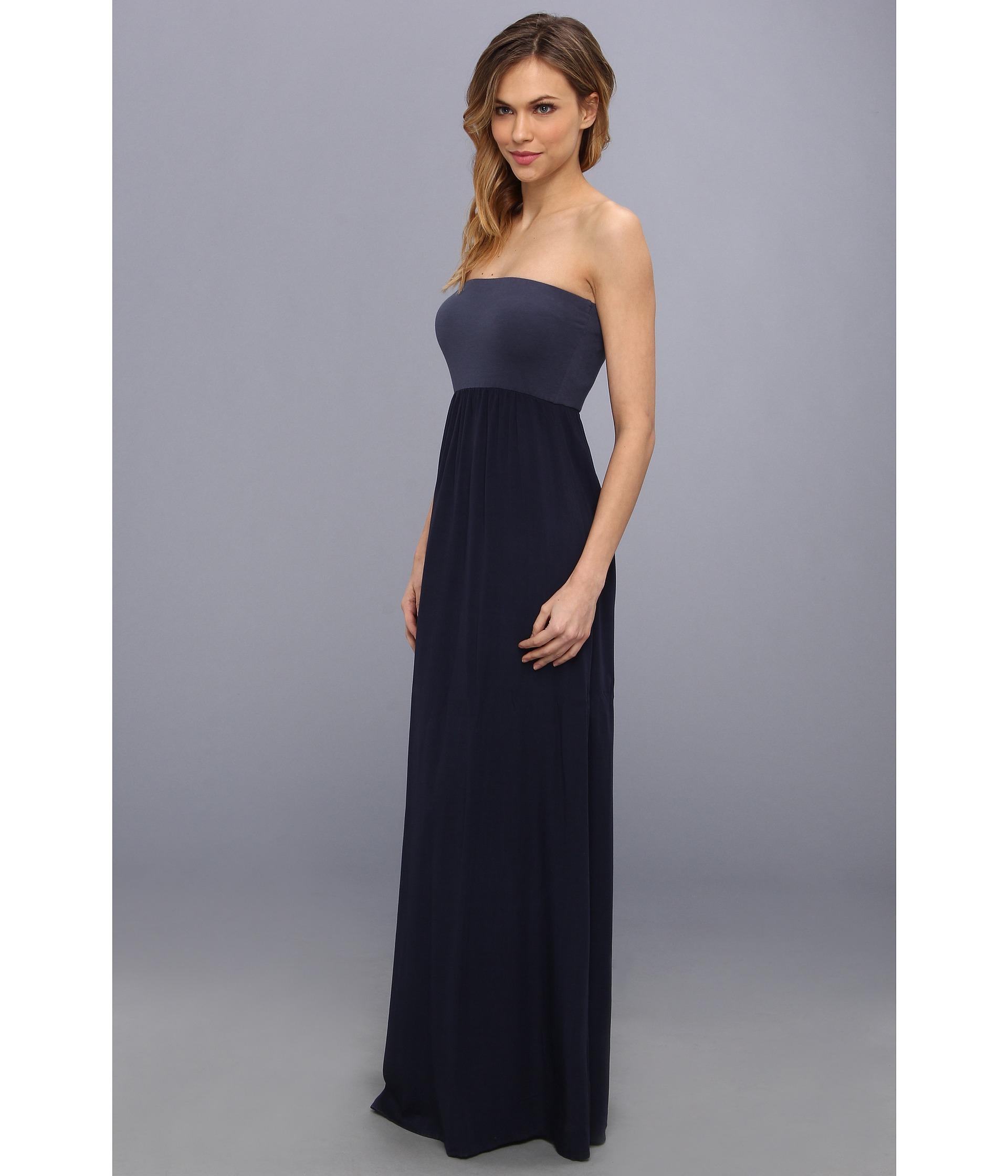 Splendid Tube Top Maxi Dress in Blue  Lyst