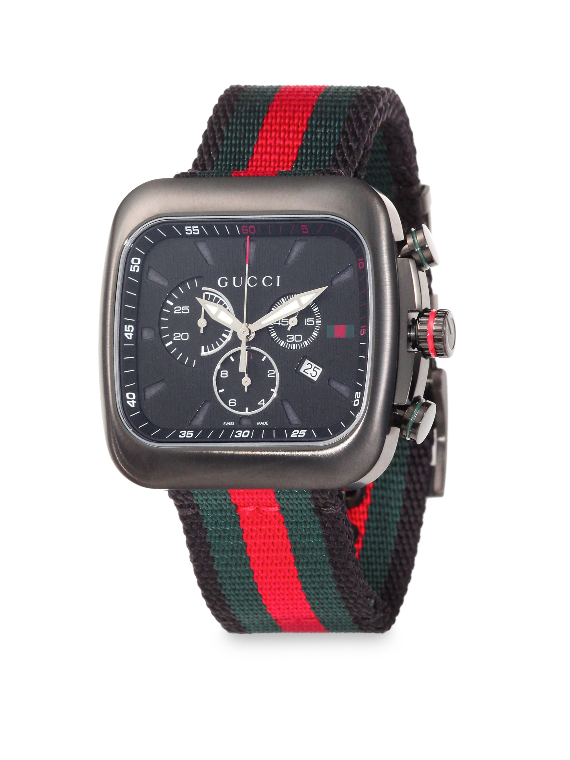 6ecd7c84426 Lyst - Gucci Coupé Chronograph Watch in Red for Men