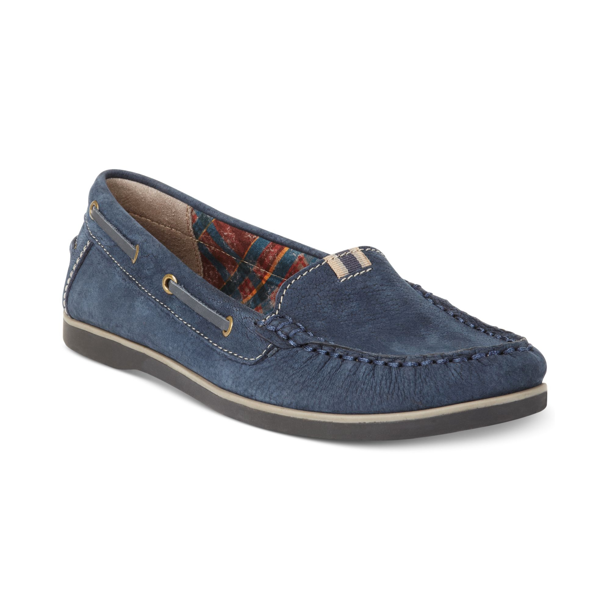 Naturalizer Hanover Boat Shoes in Blue (Navy Nubuck