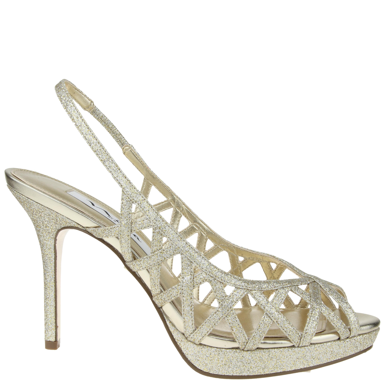 Nina Shoes Nina Fantina in Gold (PLATINO SORA GLITTER