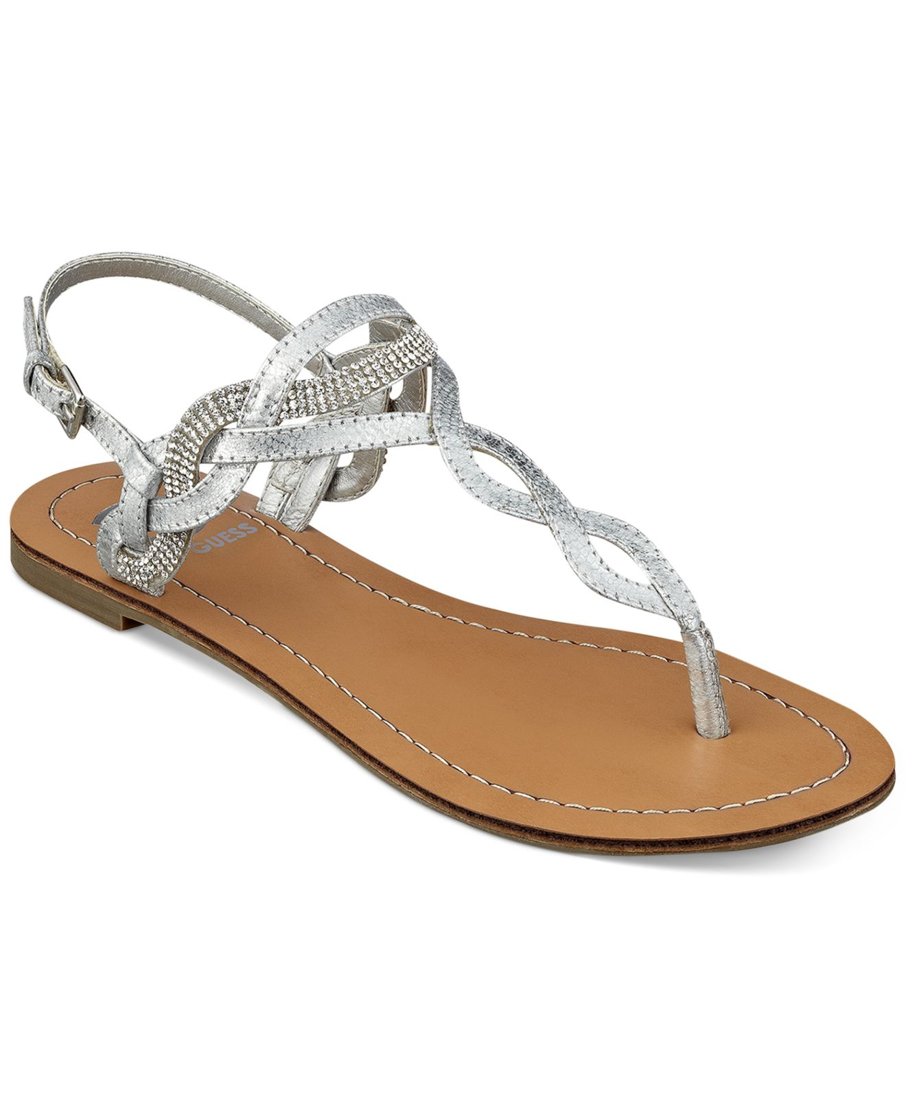 58949c160 Lyst - G by Guess Women S Karolee Flat Thong Sandals in Metallic