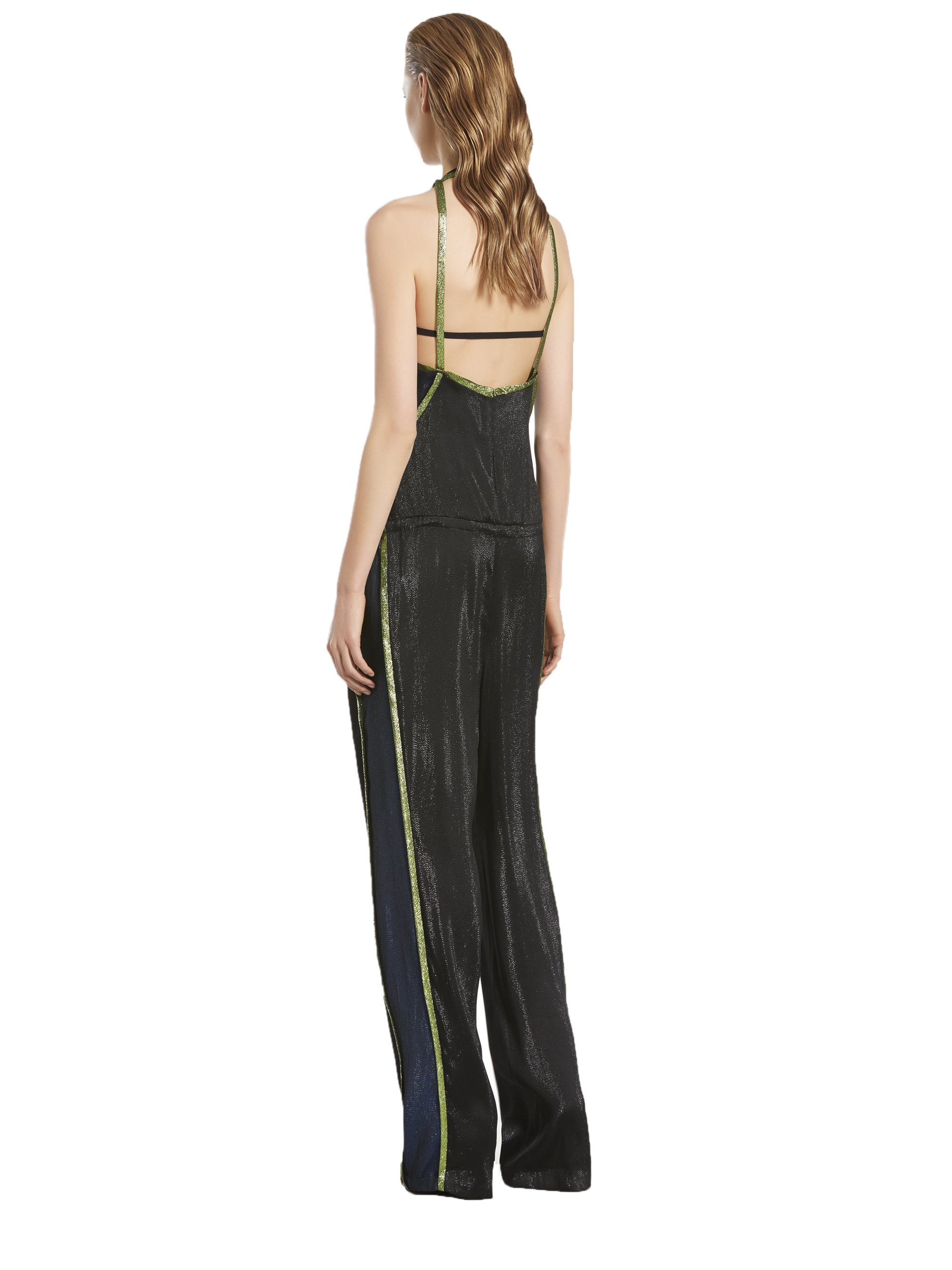 6b002df88ac Lyst - Gucci Liquid Lame Jumpsuit in Black